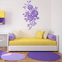 Трафарет цветы розы на стену в гостиную, спальню 165 х 95 см, фото 3