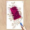 Трафарет цветы розы на стену в гостиную, спальню 165 х 95 см, фото 2
