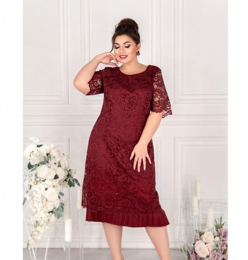 Платье Minova 119-10 марсала