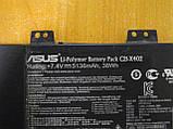 ОРИГИНАЛЬНЫЙ АКБ Батарея Аккумулятор ASUS X402C, X402CA, X402, C21-X402 БУ Износ 25%., фото 2