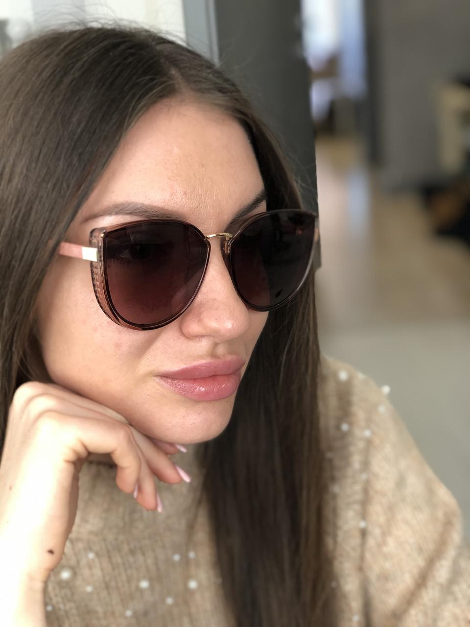 Женские  солнцезащитные очки кошечки Polarized 05021 роз