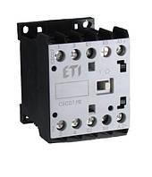 Контактор миниатюрный ETI CEC 09.10 9А 24V AC 3NO+1NO 4kW 4641062 (силовой, 20A AC1, 9A AC3)