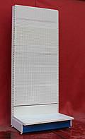 Торгові стелажі перфоровані «Регалс» 230х97 див. (Україна), білий, Б/у, фото 1