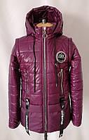 Демисезонная куртка для девочек от производителя   34-44  бордовый