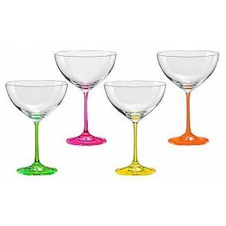 Набор бокалов для коктейлей 340 мл 4 шт Neon Bohemia 40751/340S/D4892
