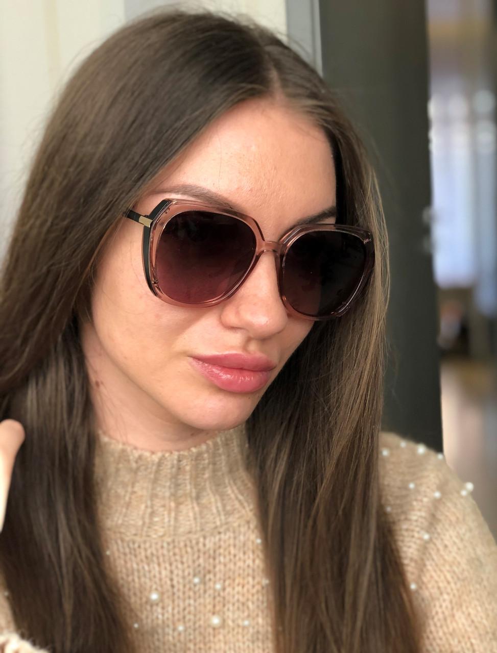 Женские  солнцезащитные очки квадратные  Polarized 05075 роз