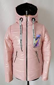 Куртка демисезонная на девочку подростка 34-44  пудра