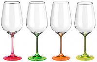 Набір келихів для вина 350 мл 4 шт Neon Bohemia 40729/350S/D4892