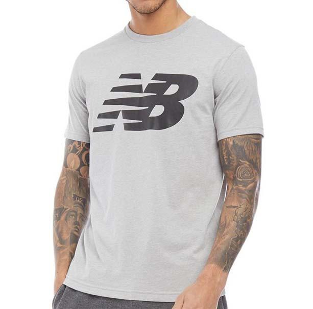 Мужская серая фирменная футболка New Balance Logo Graphic Grey T-Shirt MT91923AGM