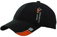 Бейсболка вышивка SPORT CAP (оранж) черный