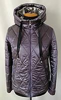 Весна женские Куртки большого размера   48-58 сиреневый