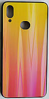 "Силіконовий чохол ""Скляний Shine Gradient"" Samsung A107/A10S (Sunset red) №5"