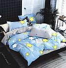 Комплект постельного белья Хлопковый Молодежный 072 M&M 5859 Синий, Желтый, Серый, фото 2