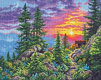 "70-35383 Набор для вышивания крестом ""Sunset Mountain Trail//Закат в горах"" DIMENSIONS"