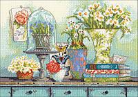 """70-65194 Набор для вышивания крестом """"Garden collectibles//Садовые предметы"""" DIMENSIONS"""