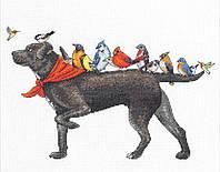 """70-35385 Набор для вышивания крестом """"Bird dog//Птичья собака"""" DIMENSIONS"""
