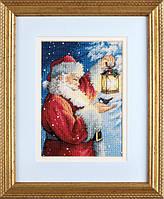 """70-08831 Набор для вышивания крестом """"Santa's Feathered Friend//Пернатый друг Санты"""" DIMENSIONS"""