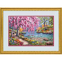 """70-35374 Набор для вышивания крестом """"Вишня в цвету//Cherry Blossom Creek"""" DIMENSIONS"""