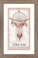 """70-35375 Набор для вышивания крестом """"Цветочный ловец снов//Floral Dream Catcher"""" DIMENSIONS"""
