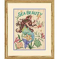 """70-35376 Набор для вышивания крестом """"Морская красота//Sea Beauty"""" DIMENSIONS"""