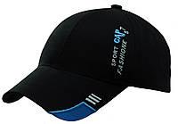 Бейсболка вышивка SPORT CAP (электрик) черный