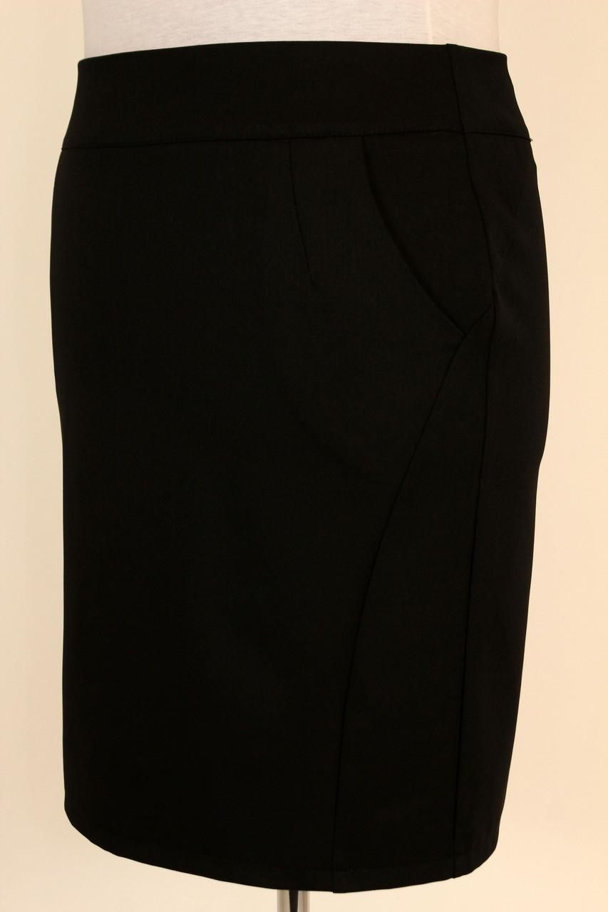 Юбка черная классическая 48-54 р