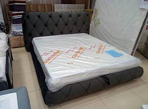 Кровать двуспальная Люкс Сиенна без матраса с ящиком для белья, фото 2