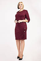 """Женское, деловое, стильное платье """" Дана"""", ткань замш на дайвинге, размеры 52,54,56 ( 023) бордо, сукня"""