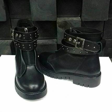 Стильные женские зимние кожаные ботинки Еврозима!!!, фото 2