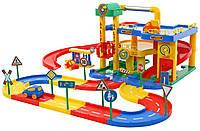 Детский игрушечный Гараж-паркинг трек 2 уровня Wader 37831 игровой набор для детей, фото 1