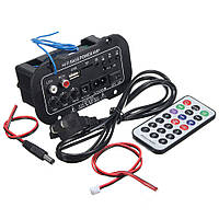 Підсилювач 50Вт врізний модуль з Блютус, mp3, радіо, USB, microSD, два канали ВЧ + НЧ, фото 1