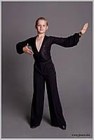 Брюки мужские для бальных танцев с защипами № 907 (с лампасами), № 909 (без лампас)