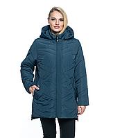 Весенняя куртка женская стеганная, арт. ЛД104, цвет малахит, фото 1