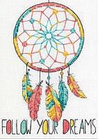 """70-65158 Набор для вышивания крестом """"Ловец снов//Dreamcatcher"""" DIMENSIONS"""