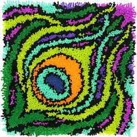 """72-75002 Набор для ковровой техники """"Красочная Перо//Colorful Feather"""" DIMENSIONS"""
