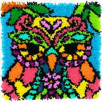 """72-75001 Набор для ковровой техники """"Красочная Сова//Colorful Owl"""" DIMENSIONS"""