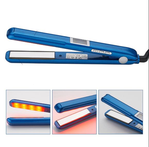 Інфрачервоний ультразвукової утюжок для відновлення та лікування волосся (синій)