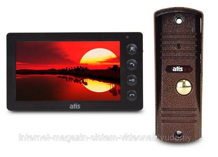 Комплект видеодомофона ATIS AD-760B Kit box Черный
