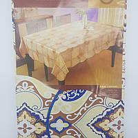 """Скатерть для стола виниловая """"Волна"""" на основе 205х137см."""
