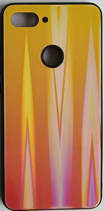 """Силиконовый чехол """"Стеклянный Shine Gradient"""" Xiaomi Mi8 Lite (Sunset red) №5, фото 2"""