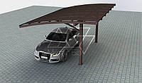 Односкатный арочный навес для автомобиля