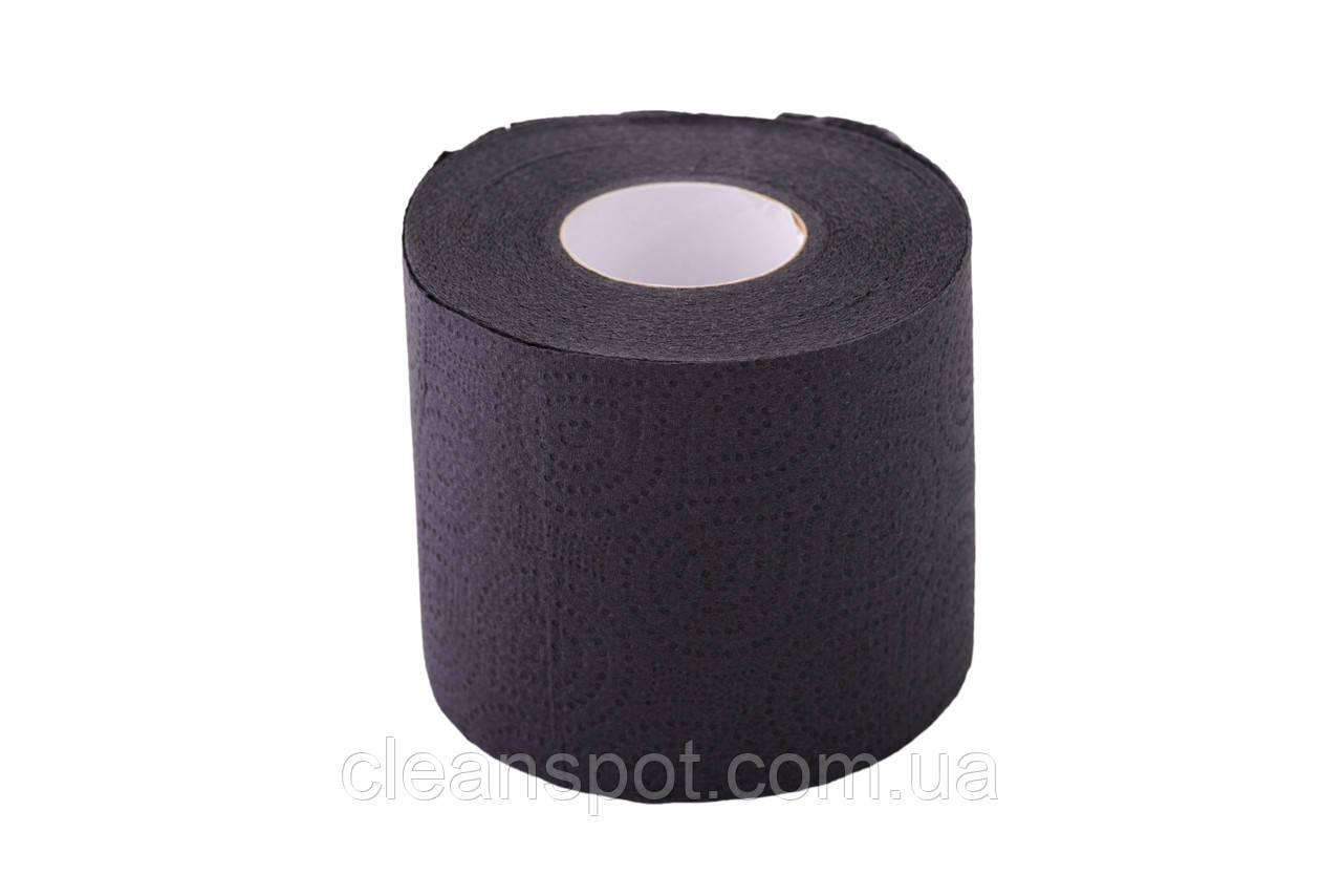 Туалетная бумага черного цвета 3-х слойная целлюлоза на гильзе