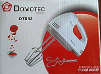 Миксер Domotec DT-583 +7 скоростных режимов с переключателем скоростей
