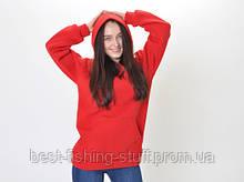Худи женское оверсайз oversize L реглан без надписей красное