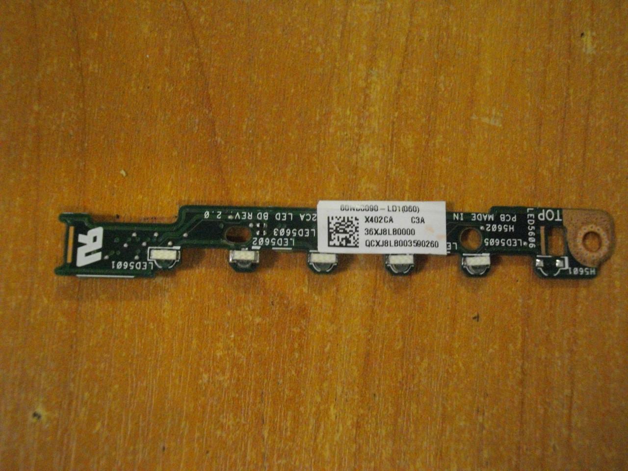 Плата с индикаторами ASUS X402C, X402CA, X402 бу