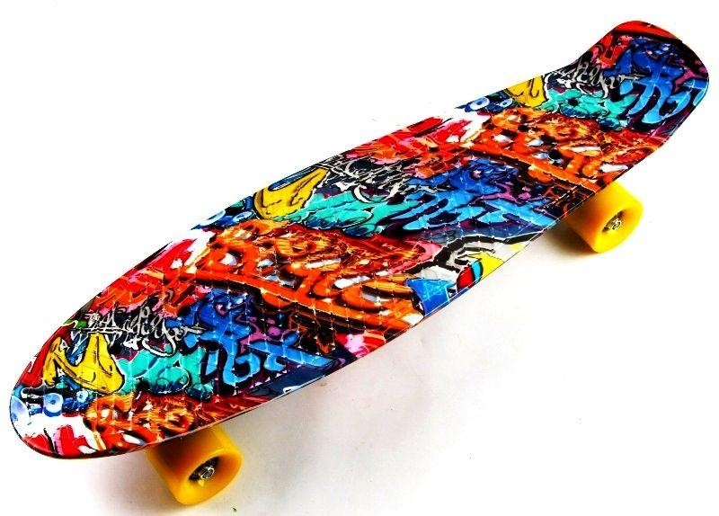 "Пенни борд, Penny Board Nickel 27"" Graffity"