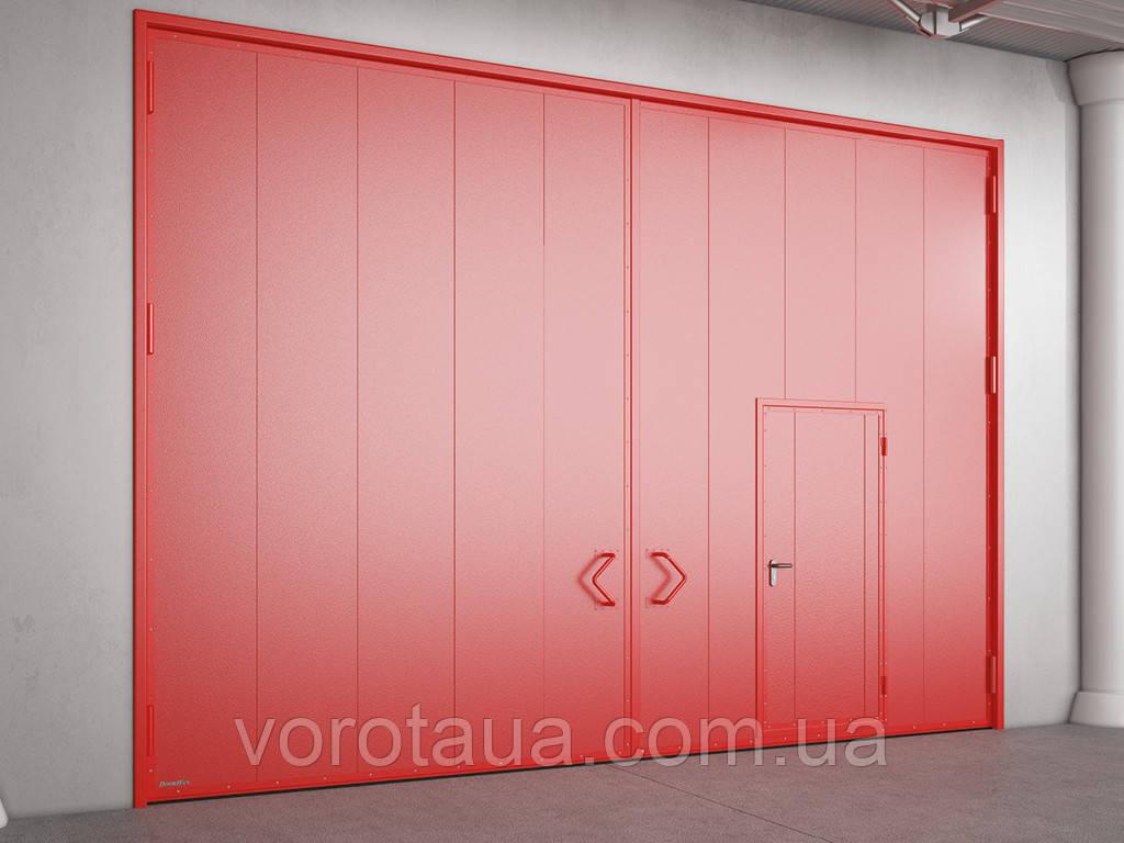 Распашные противопожарные ворота DoorHan с классом огнестойкости EI60