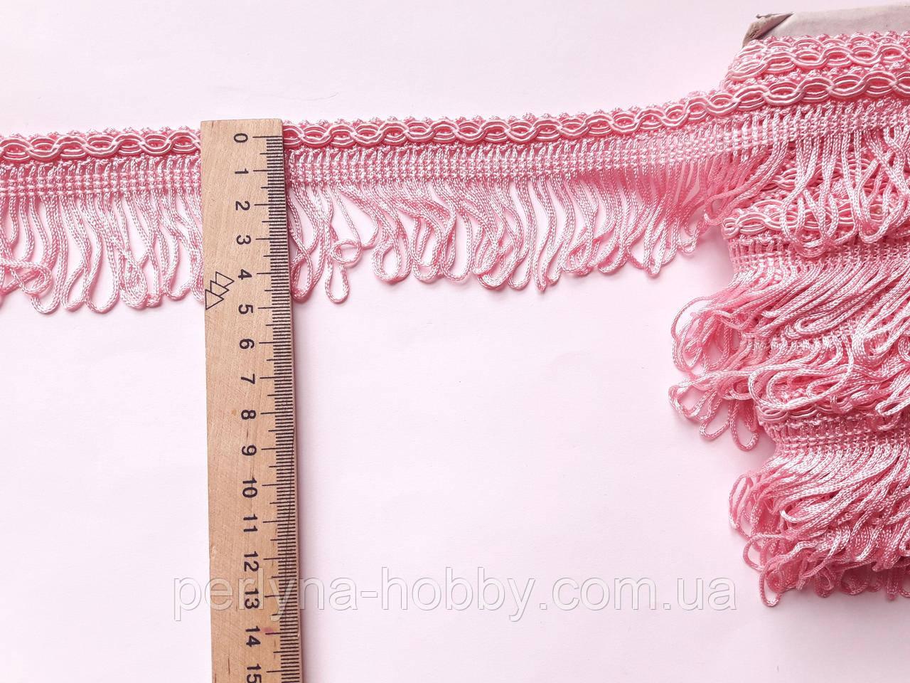 Бахрома декоративна 5см. Рожева світла БД 0167
