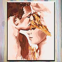 """Картина по номерам, холст на подрамнике, Люди """"Идеальная пара"""" 40*50 см, без коробки"""