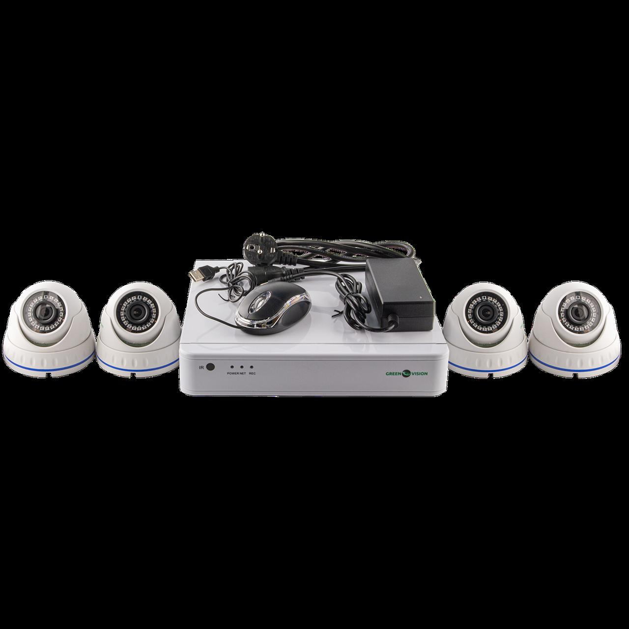 Комплект IP видеонаблюдения Green Vision GV-IP-K-S30/04 1080P